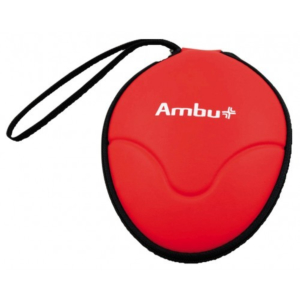 Ambu Rescue máscara de respiración con entrada de O2, estuche blando, 5 piezas